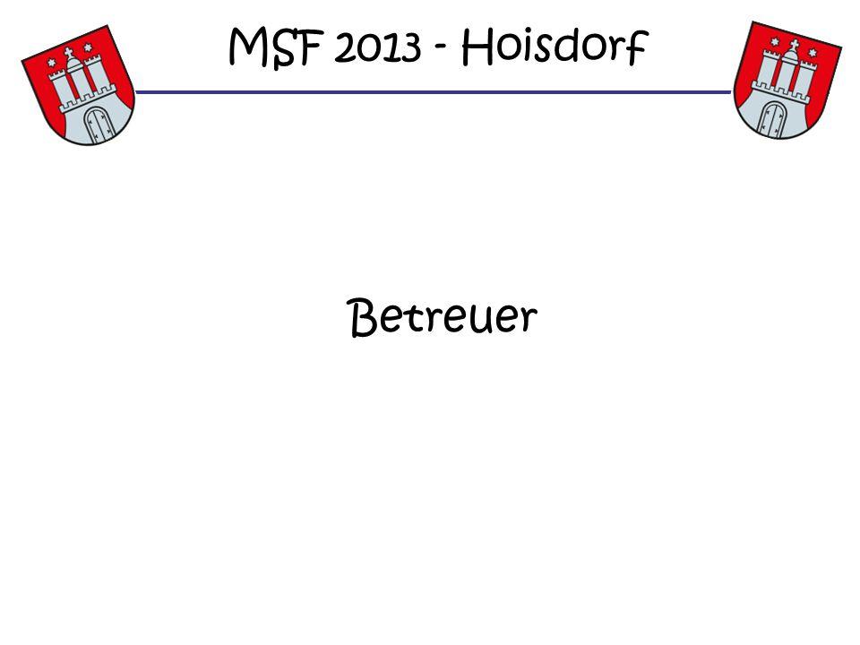 MSF 2013 - Hoisdorf Betreuer