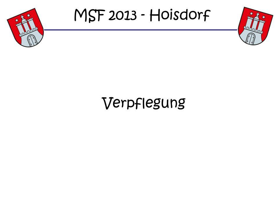 MSF 2013 - Hoisdorf Verpflegung
