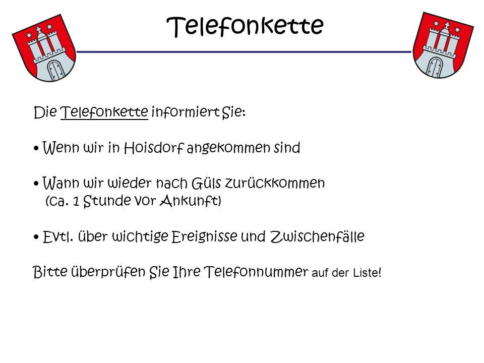 Telefonkette Die Telefonkette informiert Sie: