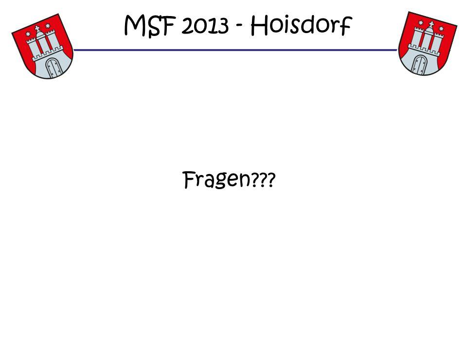MSF 2013 - Hoisdorf Fragen