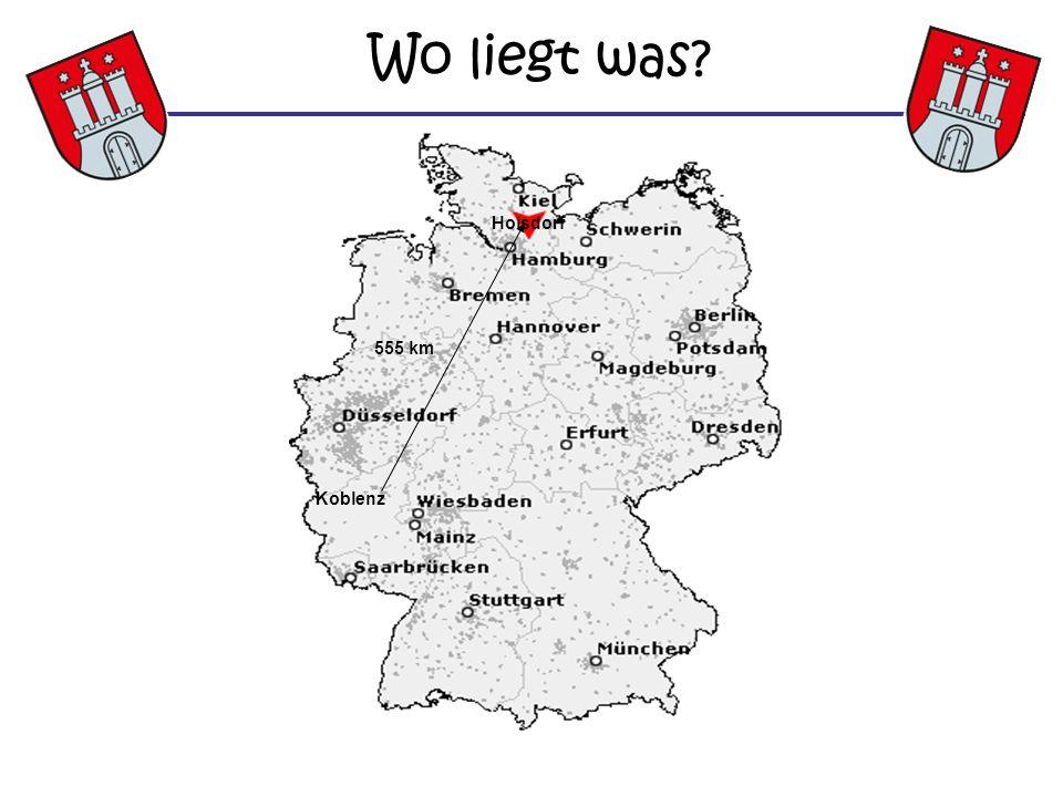 Wo liegt was Hoisdorf 555 km Koblenz