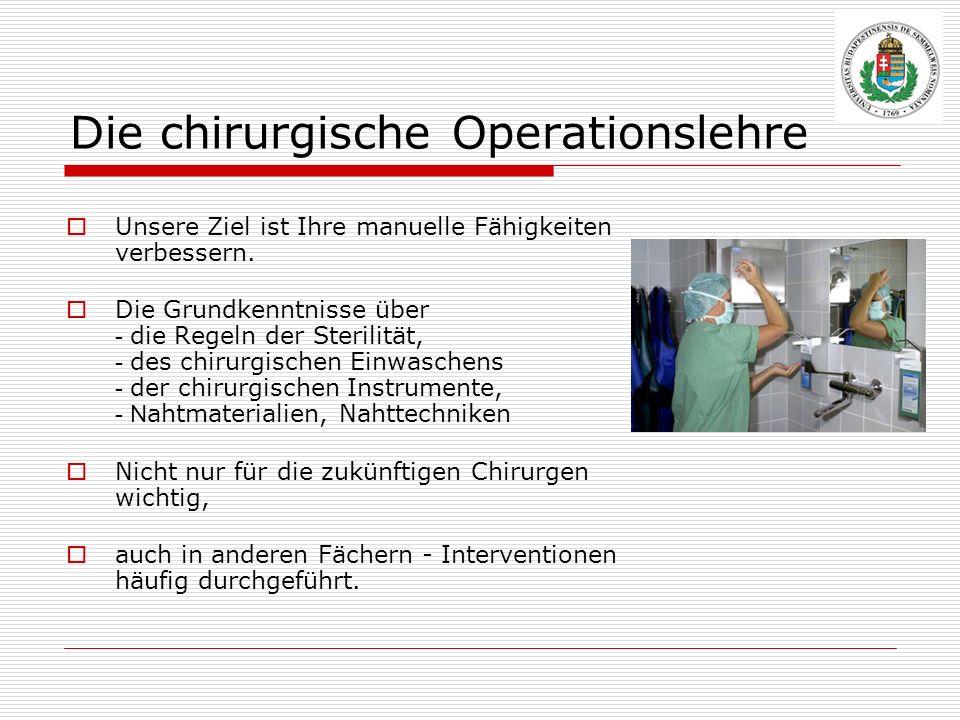 Die chirurgische Operationslehre