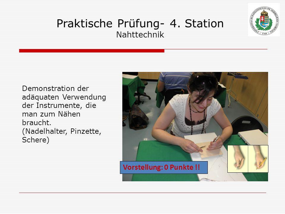 Praktische Prüfung- 4. Station Nahttechnik