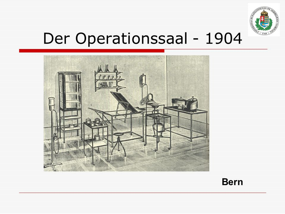 Der Operationssaal - 1904 Bern