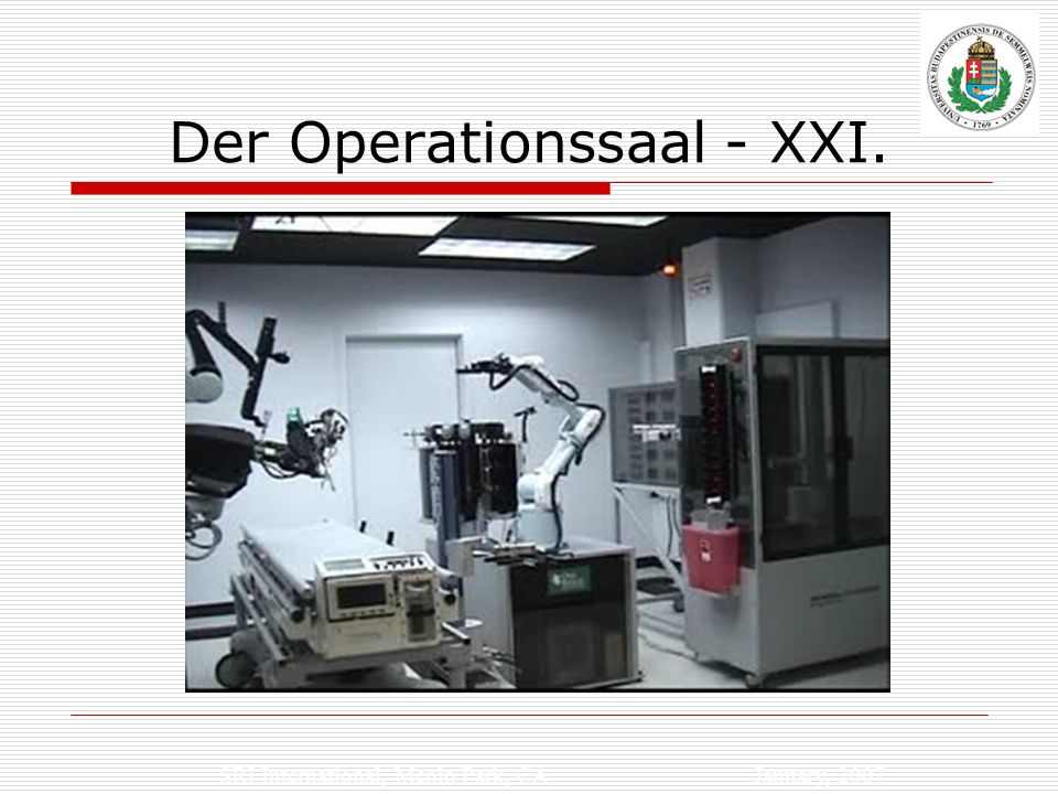 Der Operationssaal - XXI.