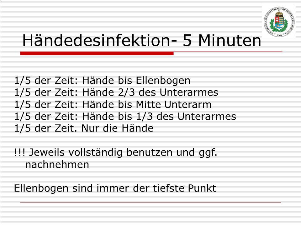 Händedesinfektion- 5 Minuten
