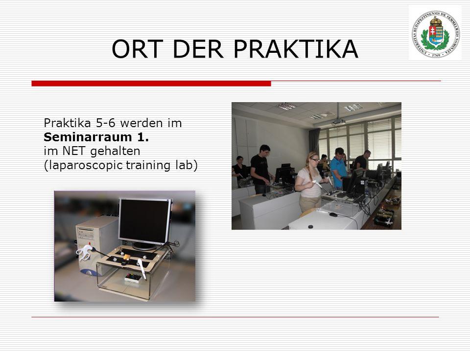 ORT DER PRAKTIKA Praktika 5-6 werden im Seminarraum 1.