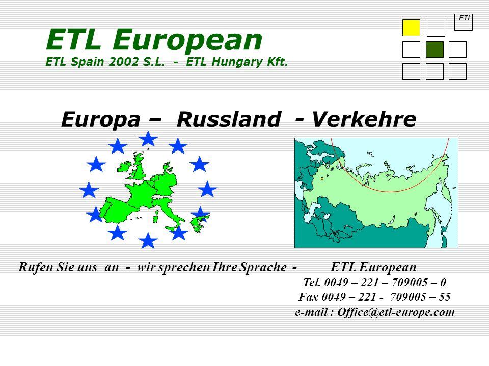 Europa – Russland - Verkehre