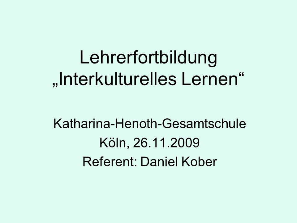 "Lehrerfortbildung ""Interkulturelles Lernen"