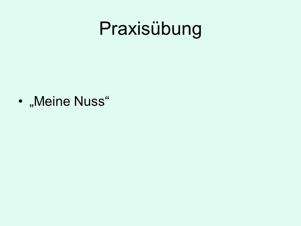 """Praxisübung """"Meine Nuss"""