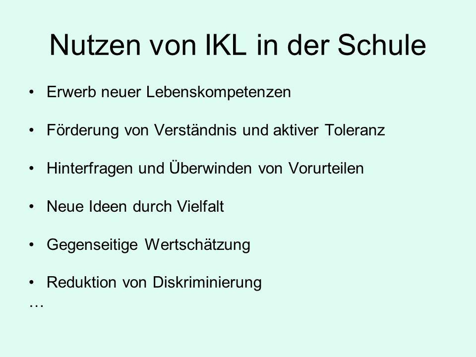 Nutzen von IKL in der Schule