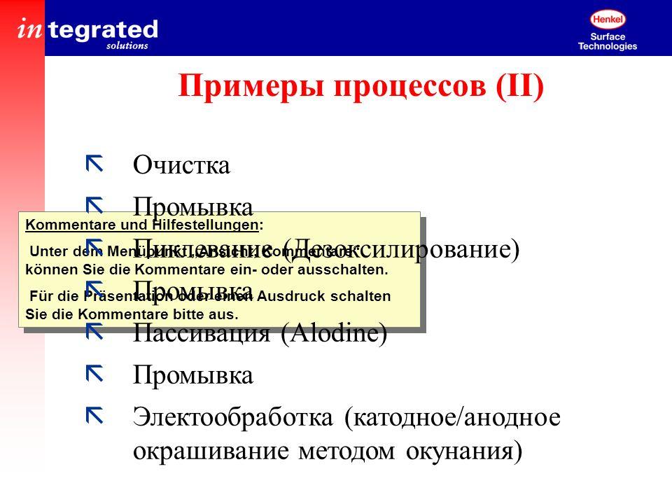 Примеры процессов (II)