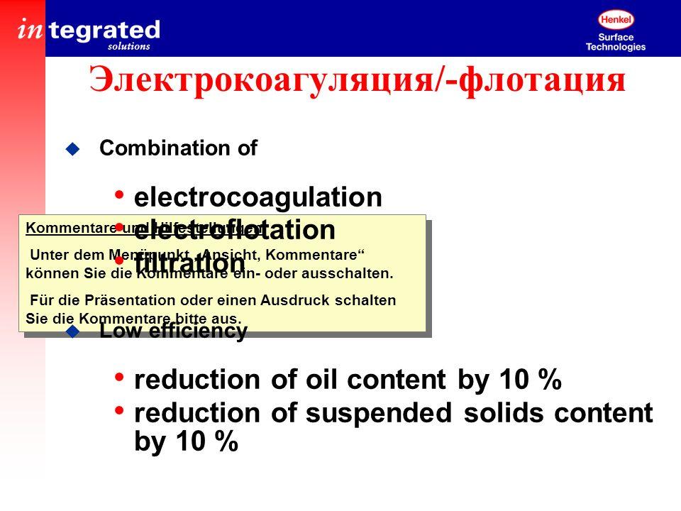 Электрокоагуляция/-флотация