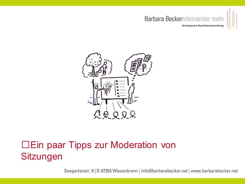 Ein paar Tipps zur Moderation von Sitzungen