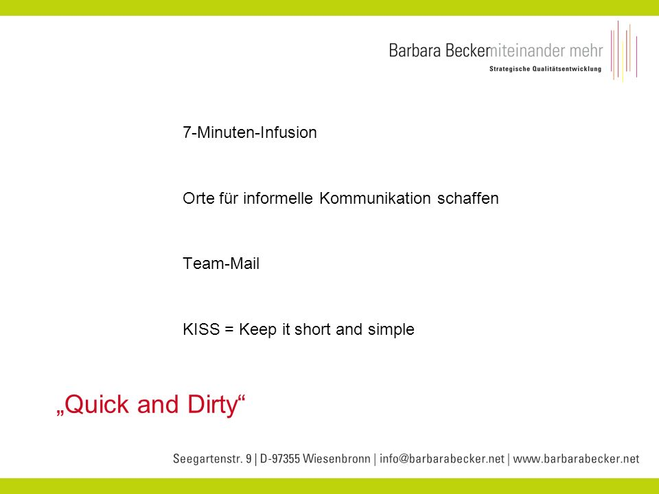 """Quick and Dirty 7-Minuten-Infusion"