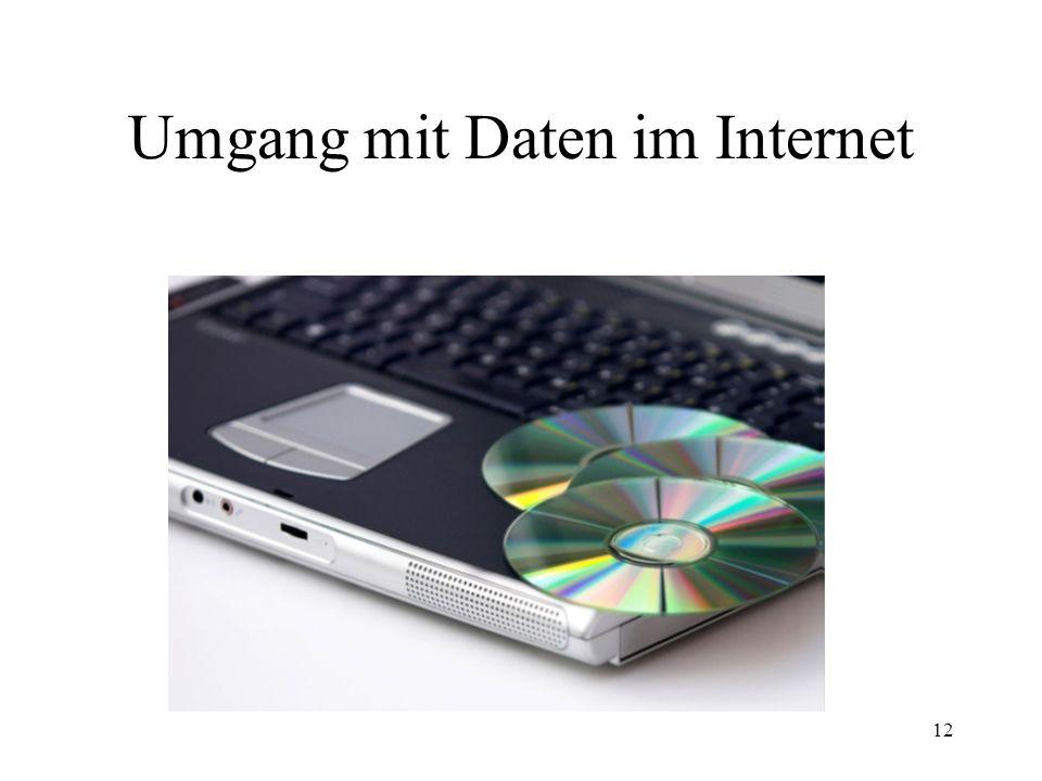 Umgang mit Daten im Internet
