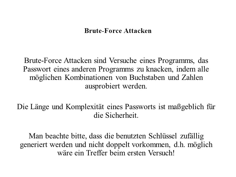 Brute-Force Attacken