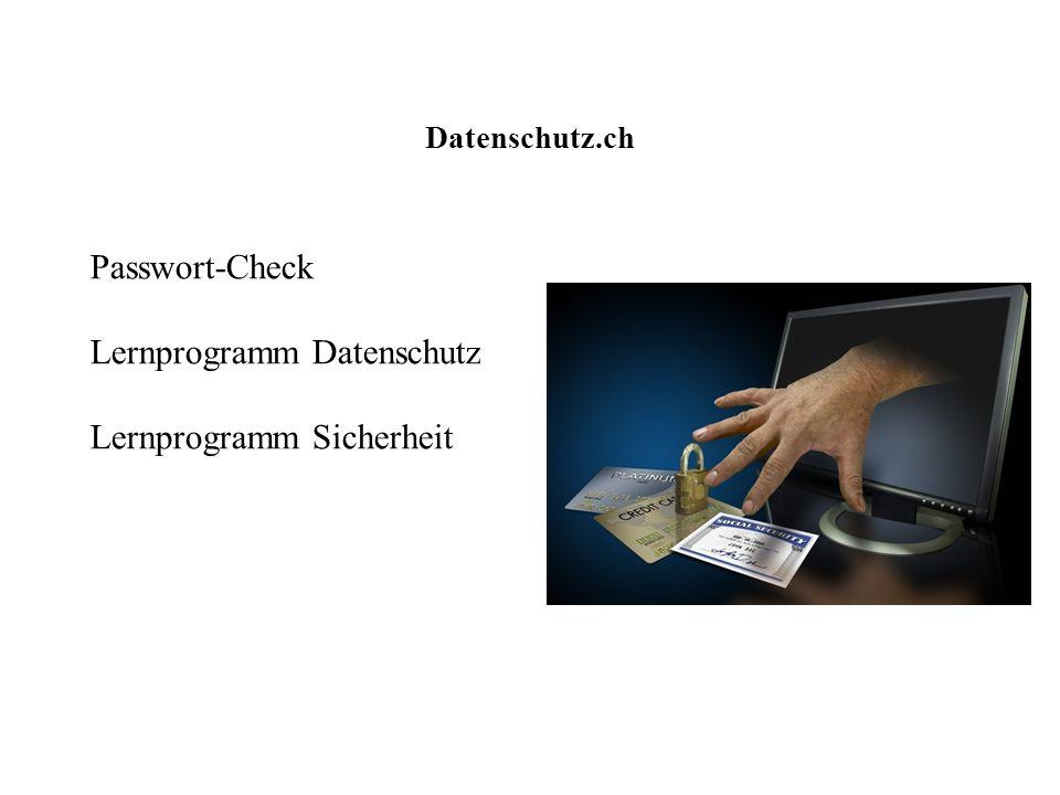 Lernprogramm Datenschutz Lernprogramm Sicherheit