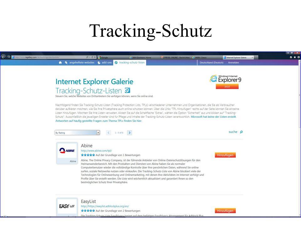 Tracking-Schutz