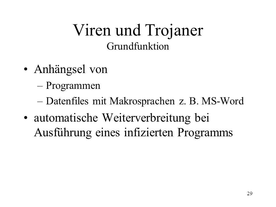 Viren und Trojaner Grundfunktion