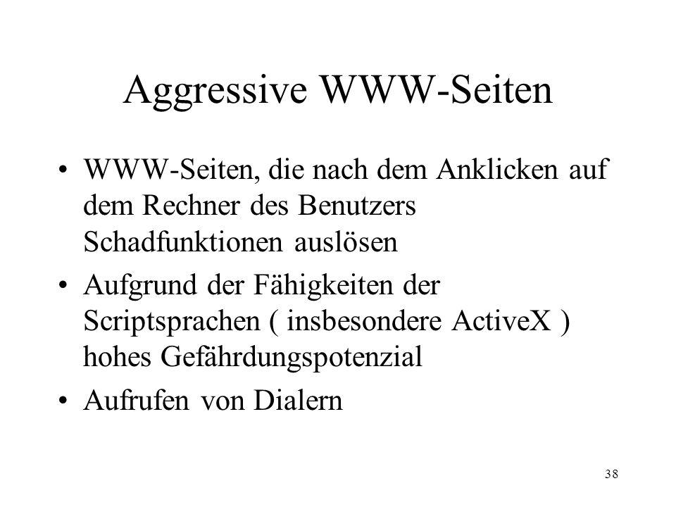 Aggressive WWW-Seiten