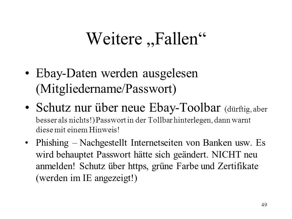 """Weitere """"Fallen Ebay-Daten werden ausgelesen (Mitgliedername/Passwort)"""