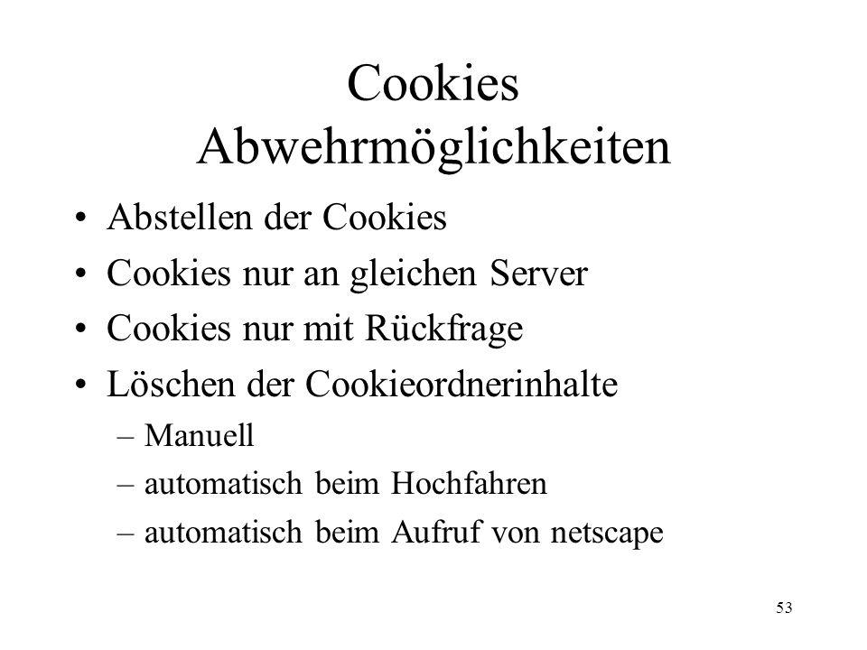 Cookies Abwehrmöglichkeiten