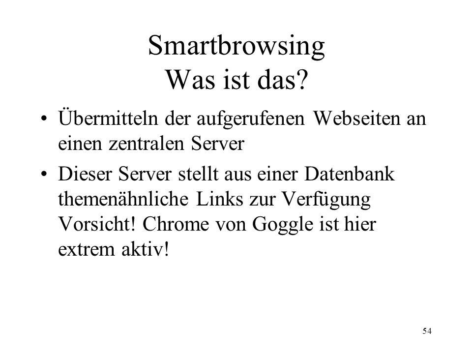 Smartbrowsing Was ist das
