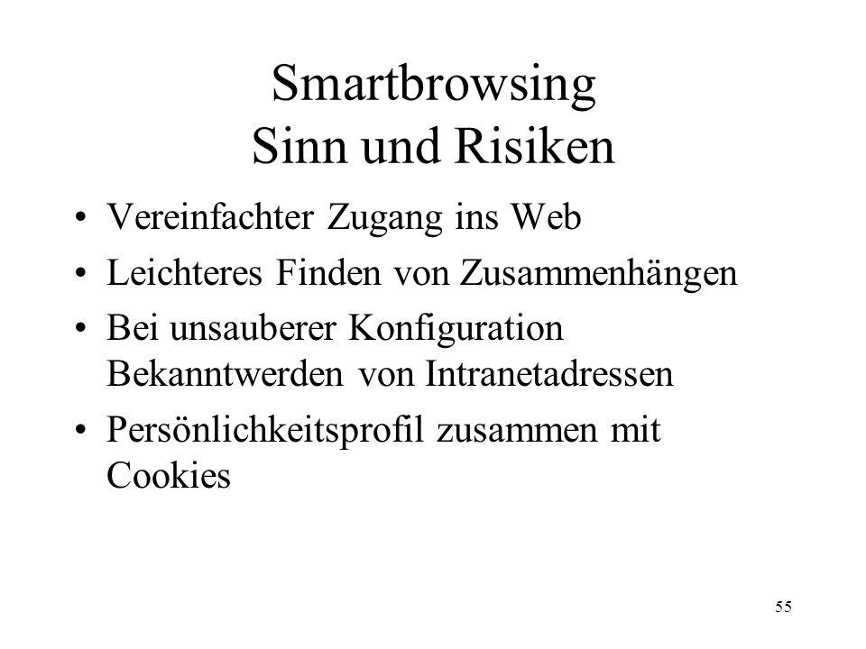 Smartbrowsing Sinn und Risiken