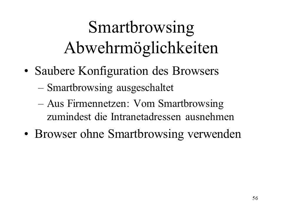Smartbrowsing Abwehrmöglichkeiten
