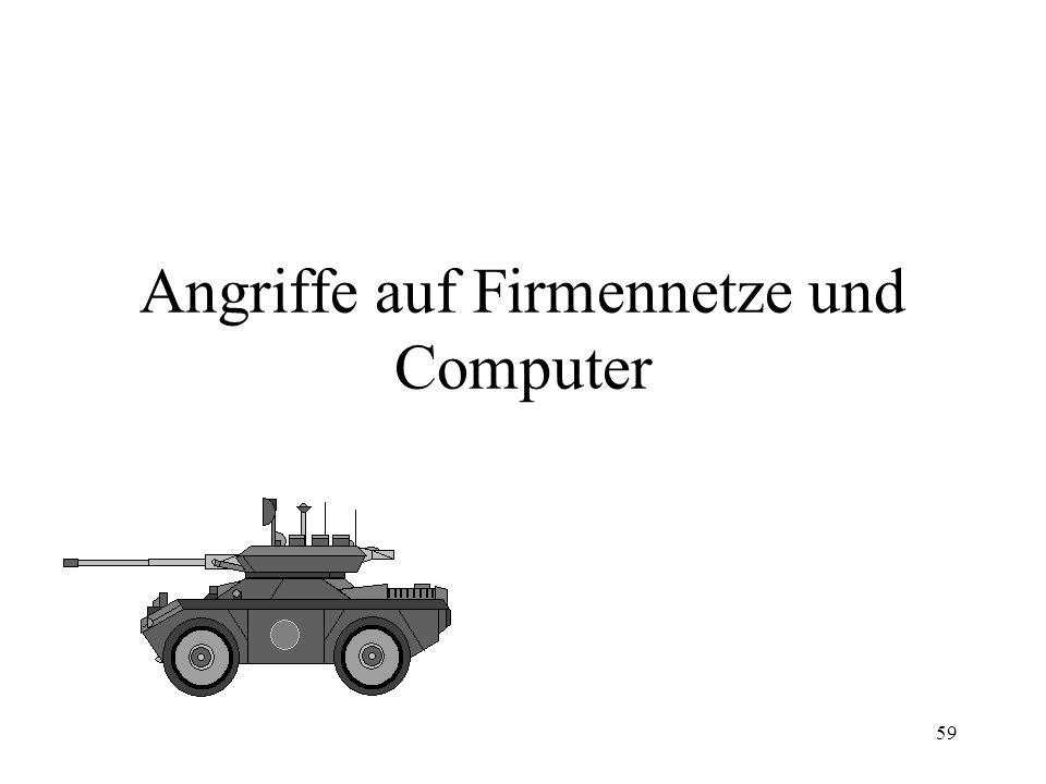 Angriffe auf Firmennetze und Computer