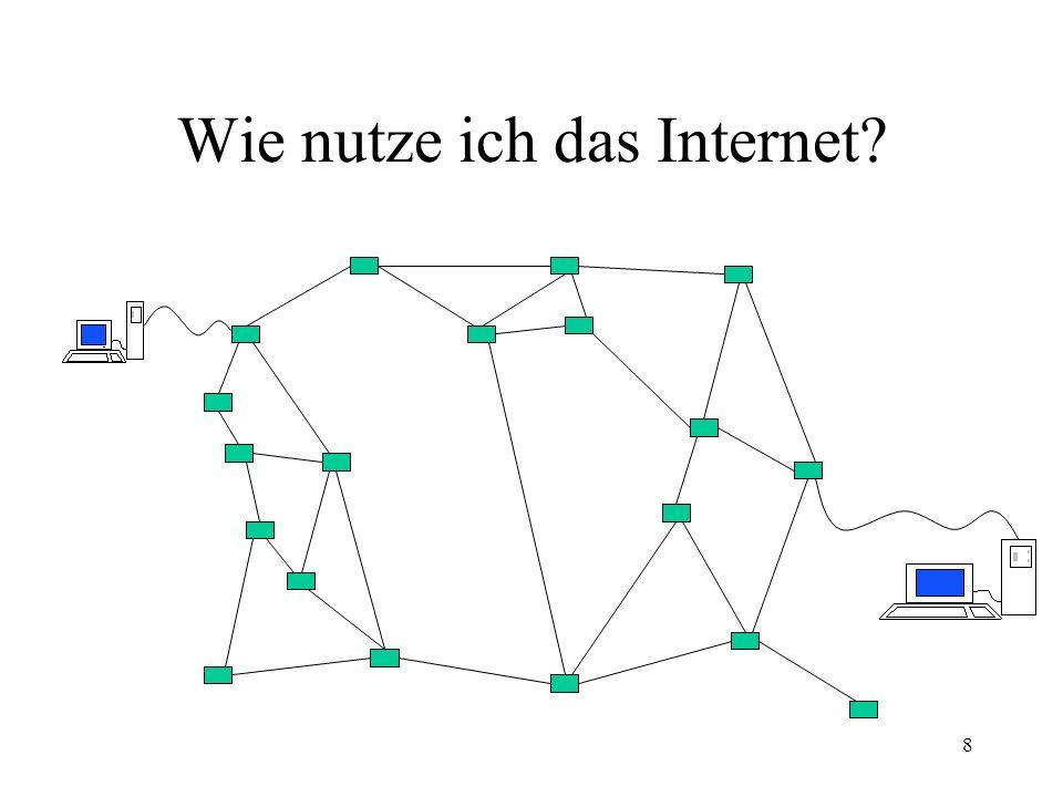 Wie nutze ich das Internet