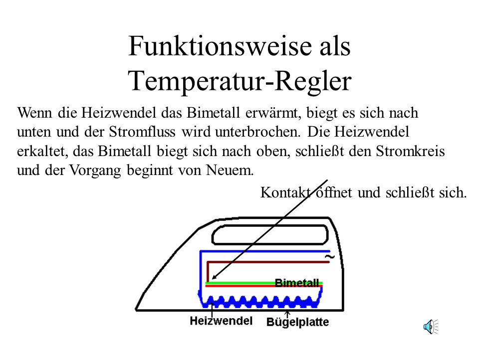 Funktionsweise als Temperatur-Regler