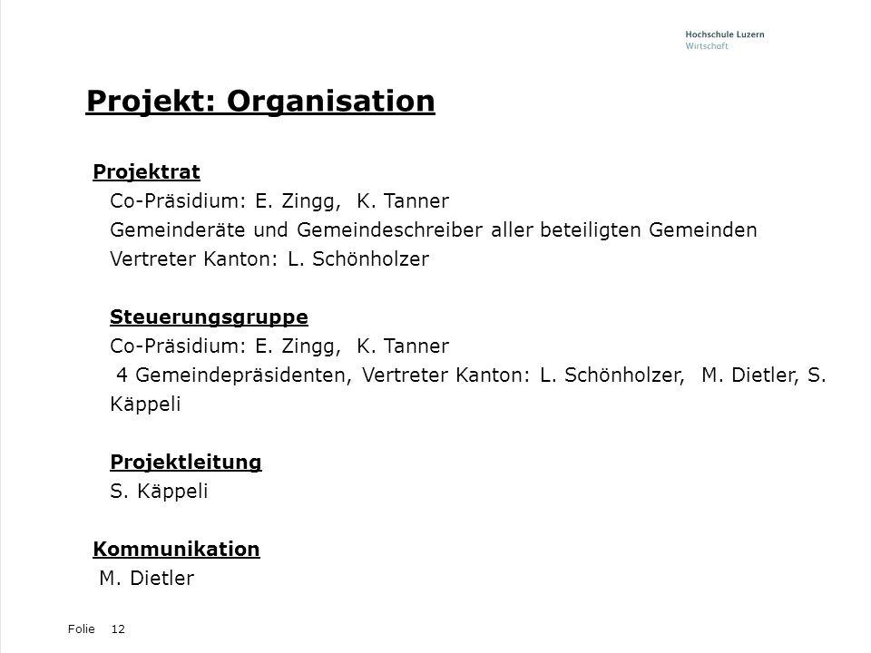 Projekt: Organisation