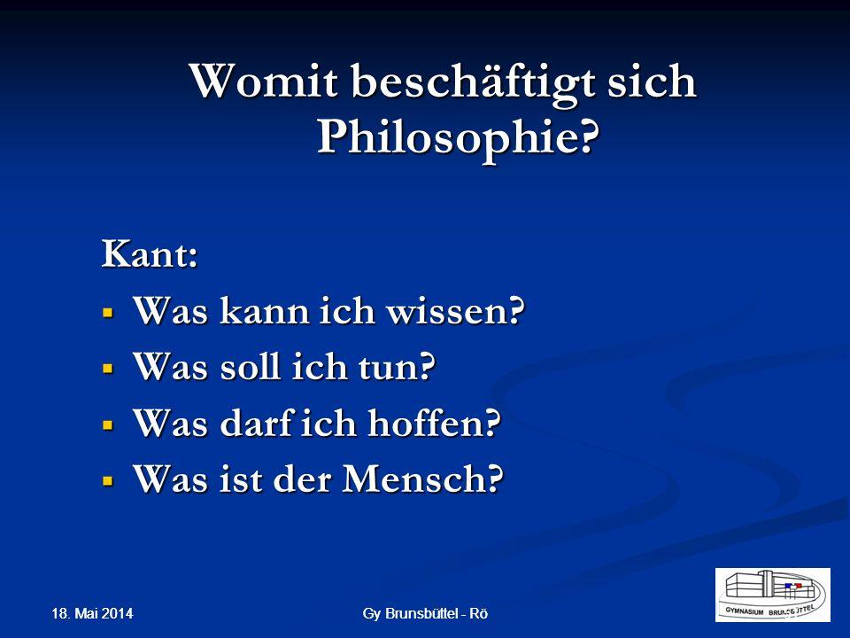 Womit beschäftigt sich Philosophie