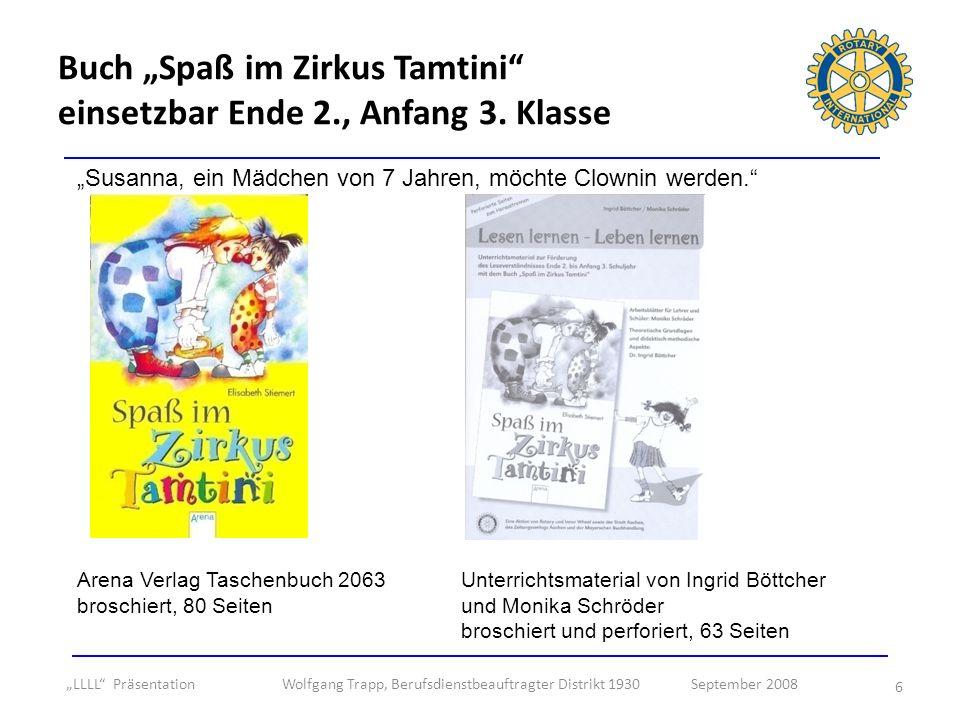 "Buch ""Spaß im Zirkus Tamtini einsetzbar Ende 2., Anfang 3. Klasse"
