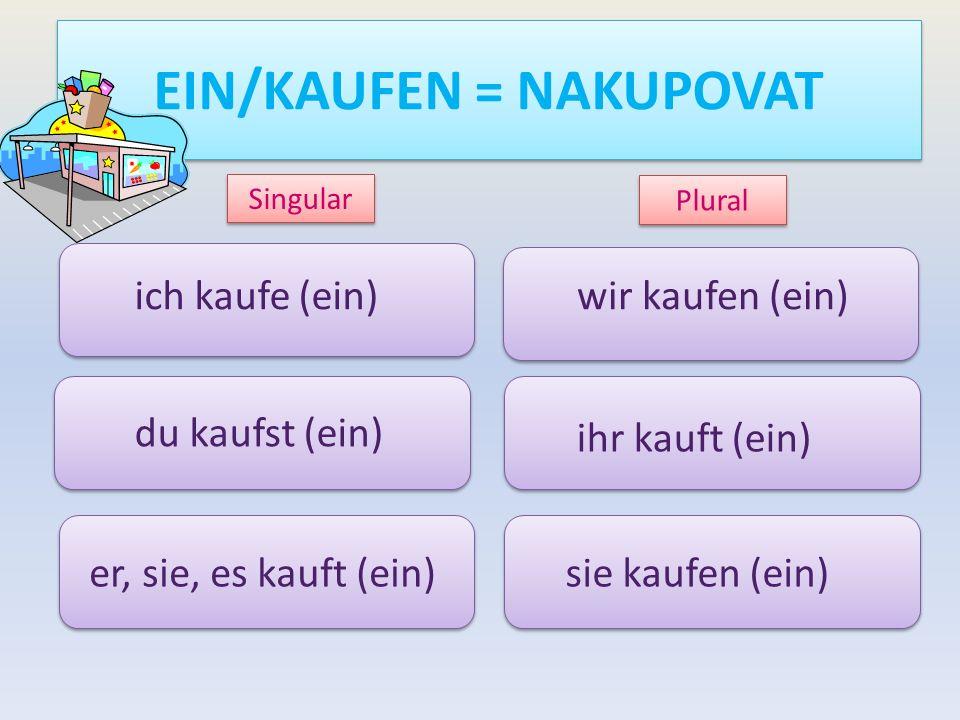 EIN/KAUFEN = NAKUPOVAT