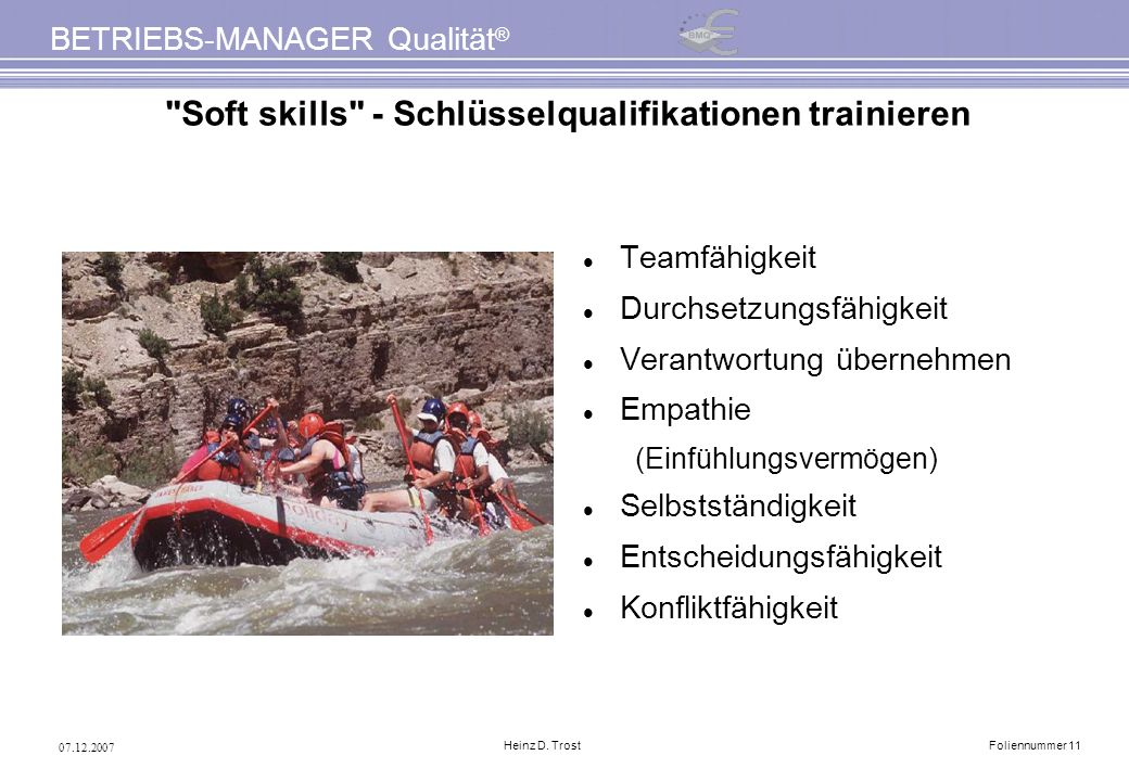 Soft skills - Schlüsselqualifikationen trainieren