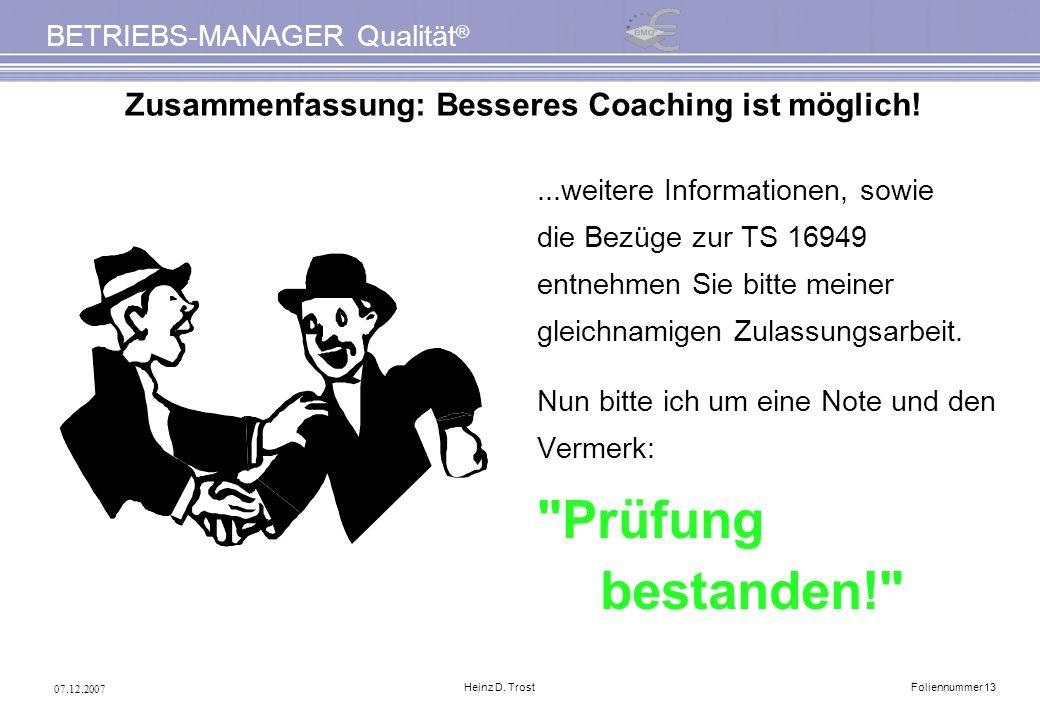Zusammenfassung: Besseres Coaching ist möglich!