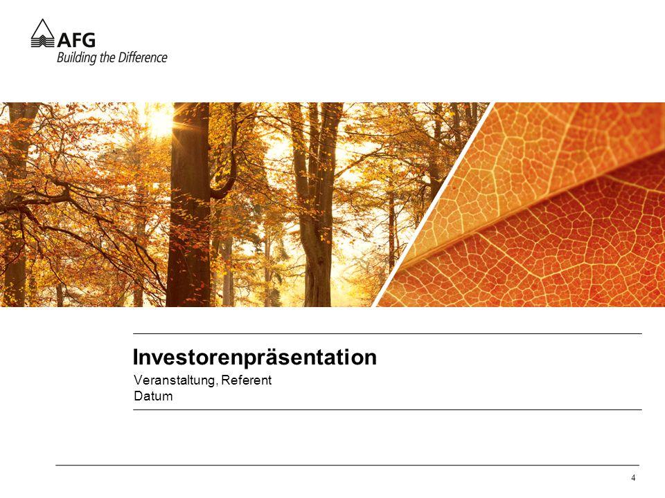 Investorenpräsentation