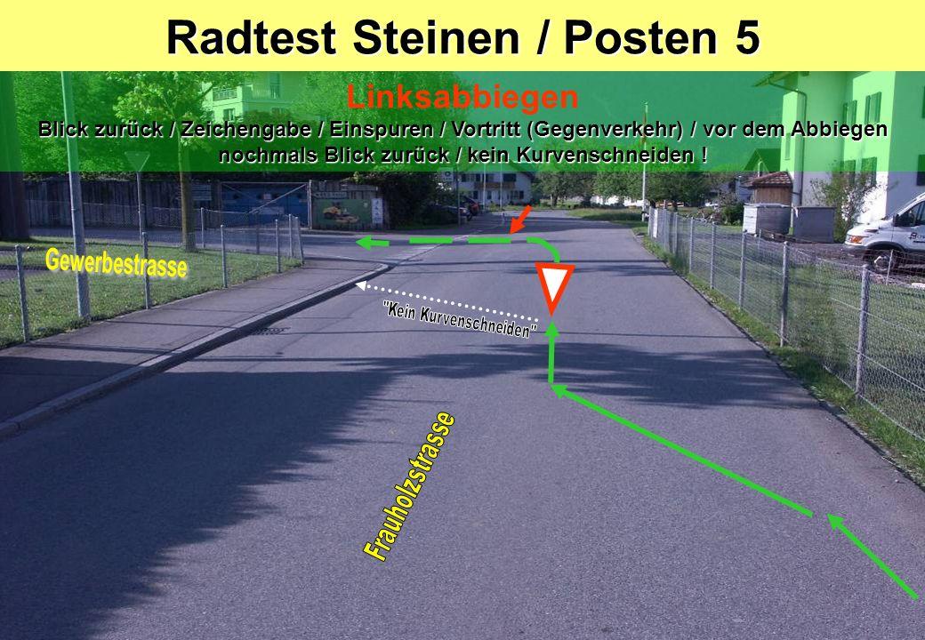 Radtest Steinen / Posten 5