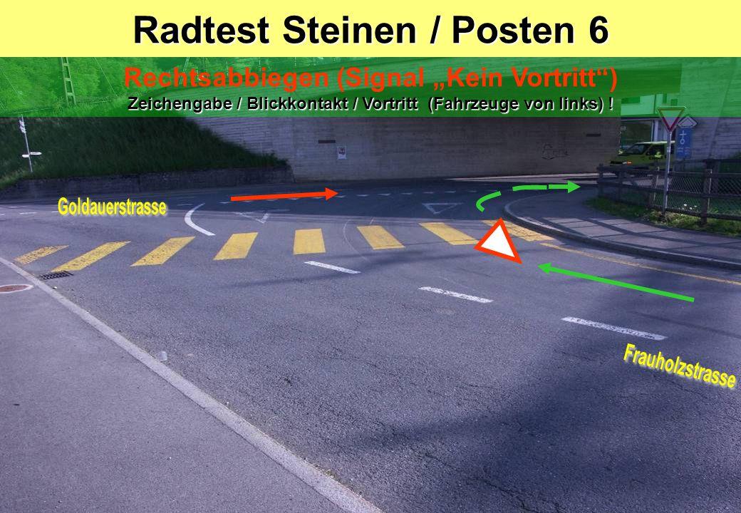Radtest Steinen / Posten 6