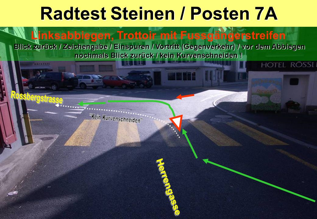 Radtest Steinen / Posten 7A