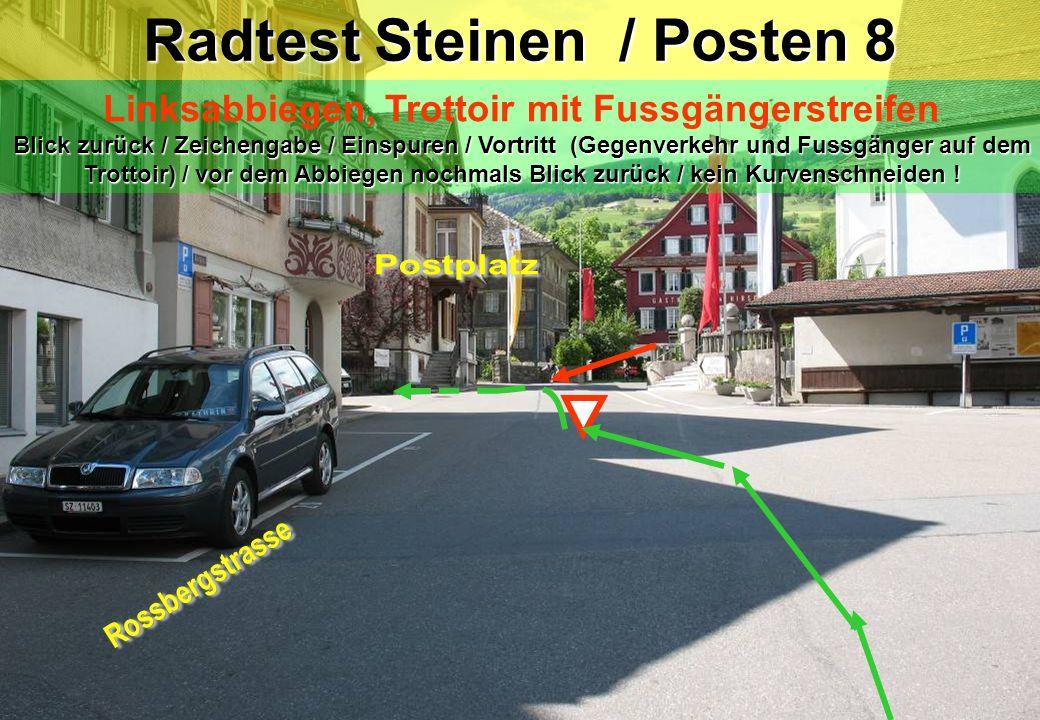 Radtest Steinen / Posten 8
