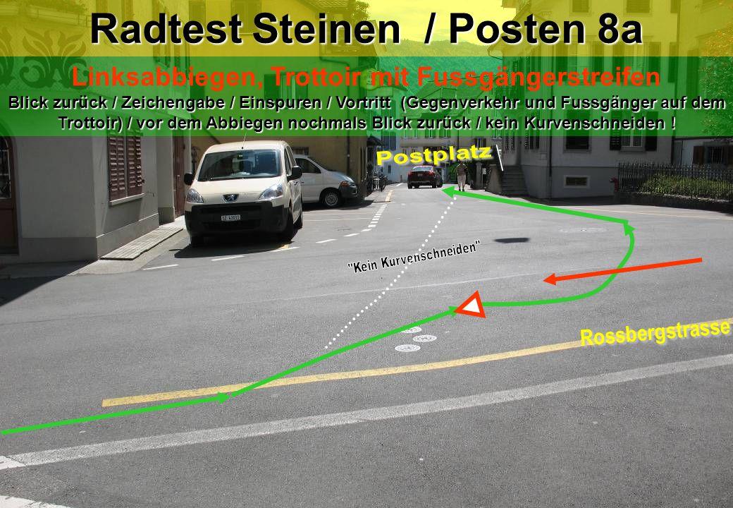 Radtest Steinen / Posten 8a