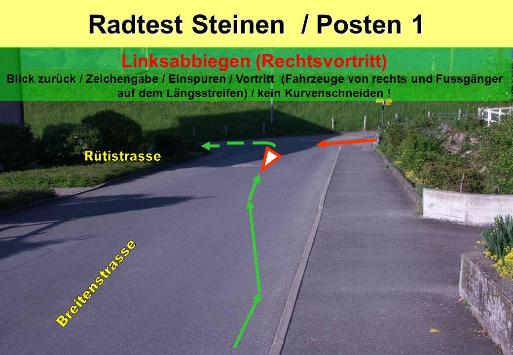 Radtest Steinen / Posten 1