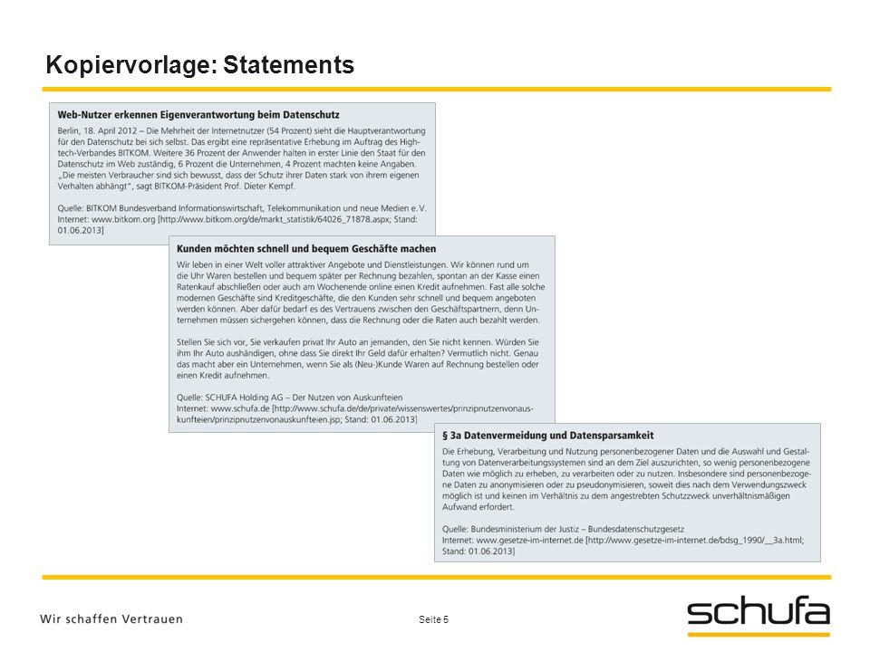Kopiervorlage: Statements