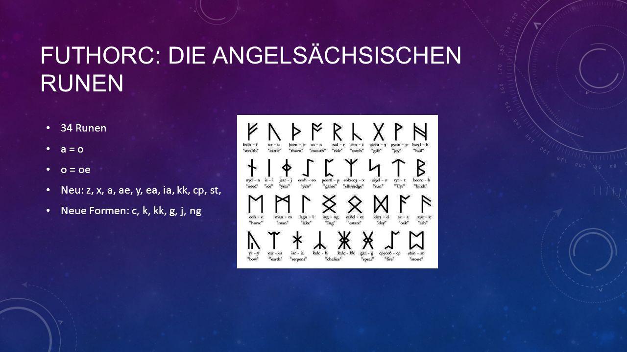 Futhorc: Die angelsächsischen runen
