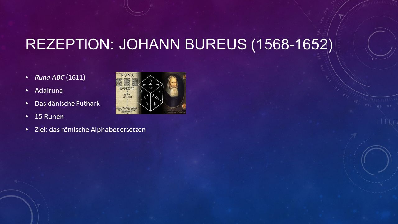 Rezeption: Johann bureus (1568-1652)