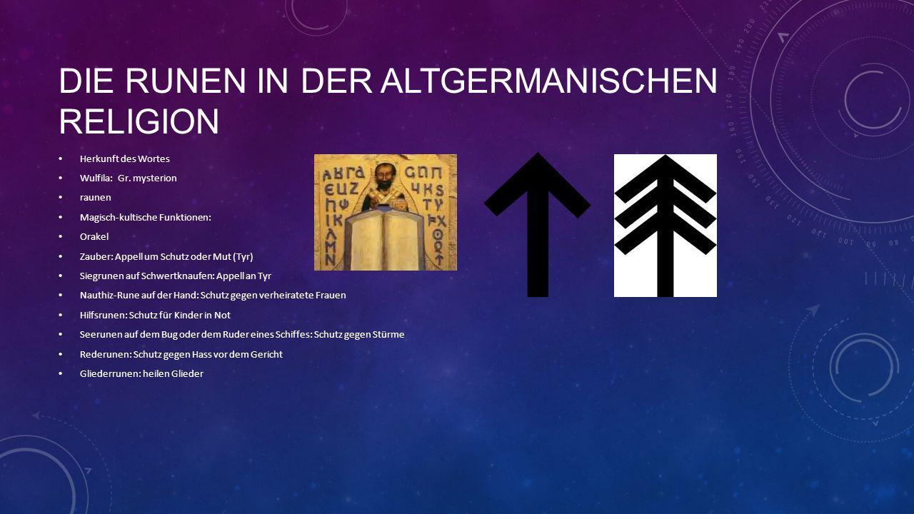 Die Runen in der altgermanischen Religion